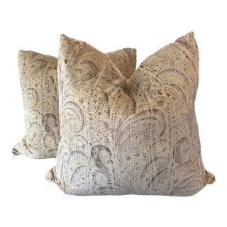 "Holly Hunt ""Paisley Park"" 22"" Pillows - A Pair"
