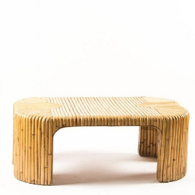 Wood Mid Century Bamboo Coffee Table For Sale - Image 7 of 7