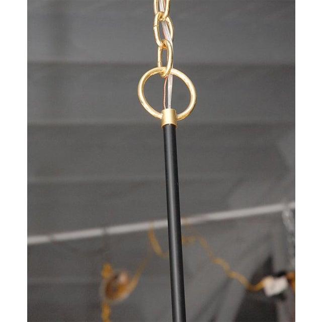 Customizable Paul Marra Design Greek Key Chandelier in Brass - Image 5 of 8