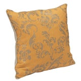 """Image of """"Ravenna"""" Tangerine Hand Printed 20"""" Decorative Pillow For Sale"""