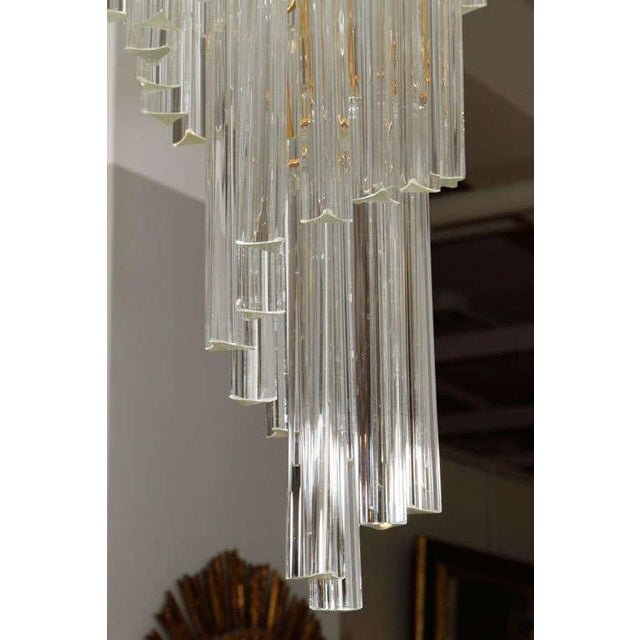 Hollywood Regency Murano Glass Foyer Chandelier For Sale - Image 3 of 9