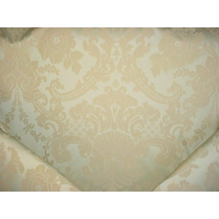Brunschwig Et Fils Rosabella Woven Pistachio Damask Upholstery Fabric - 13-1/2y For Sale