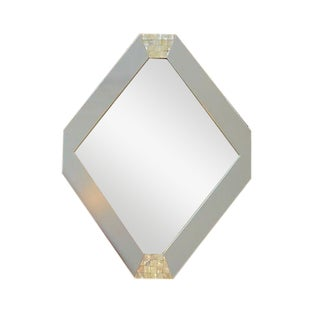 Mother of Pearl Accented Hexagonal Mirror For Sale