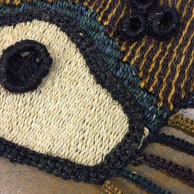 Don Freedman Style Boho Woven Owl Wall Hanging - Image 3 of 6