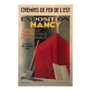 1928 Original French Art Deco Poster, Paul Colin, Exposition De Nancy (Small) For Sale