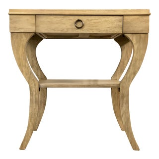 Transitional Genesis Rectangular End Table For Sale