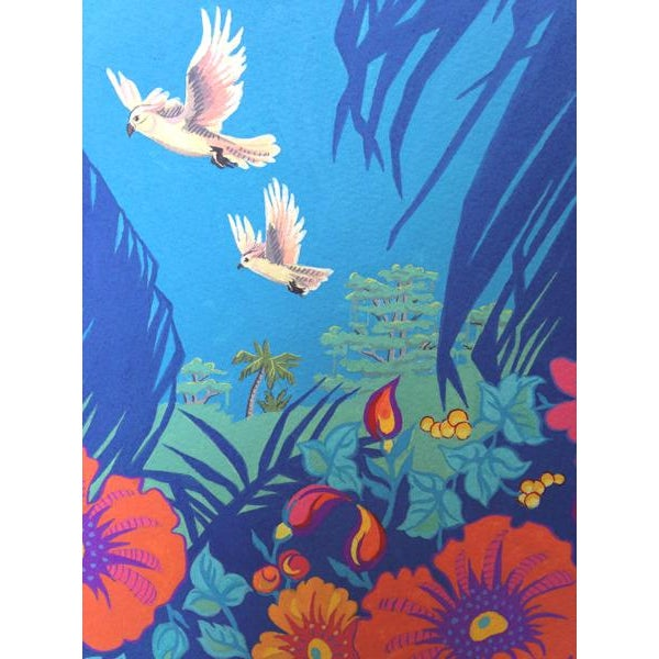 Children's Tropical Bird 2 Original Painting For Sale - Image 3 of 6