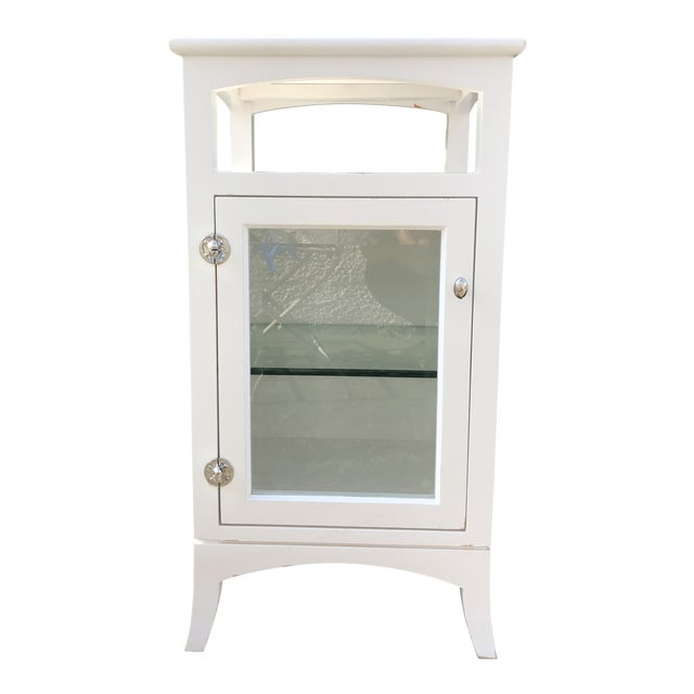 Contemporary Shabby Chic Bathroom Cabinet | Chairish on shabby chic bathroom window curtains, shabby chic bathroom colors, shabby chic bathroom cabinets, shabby chic bathroom shelves, shabby chic bathroom sink, shabby chic bathroom wall art,