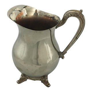 English Silver Manufacturing Silver Plate Pitcher