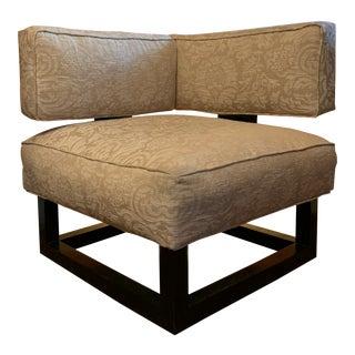 Unusual Mid-Century Modern Corner Chair For Sale