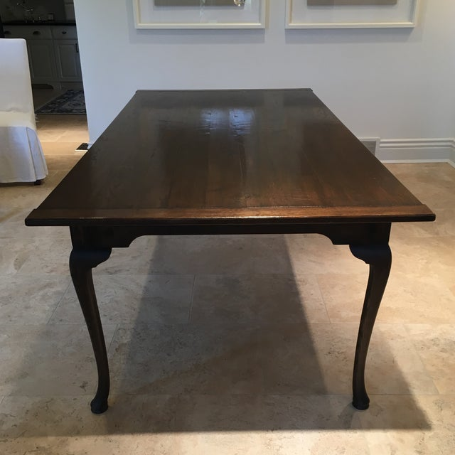 Beautiful dining table with cabriole style legs was custom made in England almost 20 years ago for a buyer here in the...