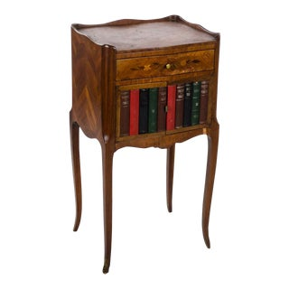 20th Century French Louis XV Style Faux Book Side Table For Sale