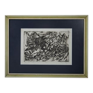 """""""Flight"""" Limited Edition Etching Signed by Mae Alice Engron For Sale"""