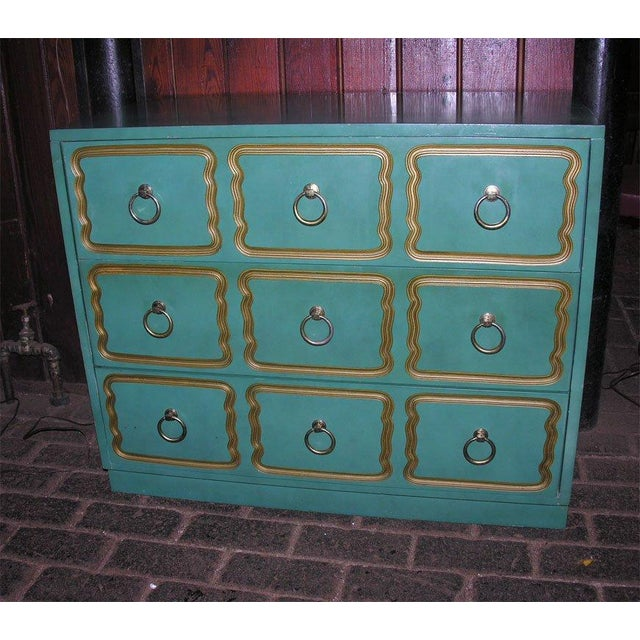 """Hollywood Regency Classic """"Espana"""" Chests in the Style of Dorothy Draper - A Pair For Sale - Image 3 of 9"""