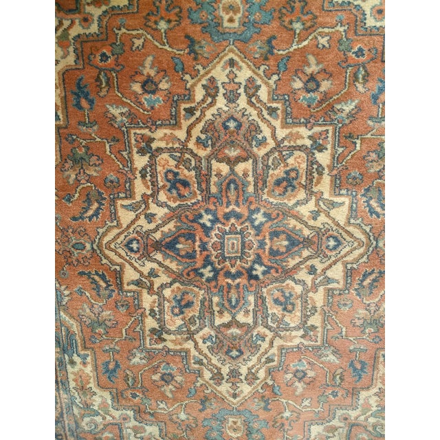 "Islamic Vintage Heriz Serapi Karastan Rug- 4'3"" X 6' For Sale - Image 3 of 7"