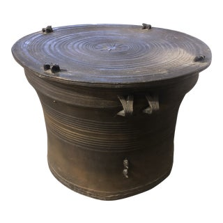 20th Century Asian Frog Rain Drum Table For Sale