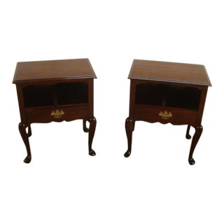 Queen Anne Statton Old Towne Solid Cherry Nightstands - a Pair For Sale