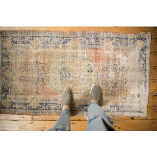 "Vintage Distressed Oushak Rug - 2'11"" X 4'11"" Preview"