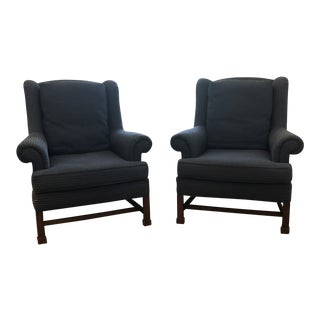 "Wesley Hall Wing Chairs ""Hampstead"" - A Pair For Sale"