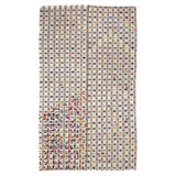 Image of 1960s Vintage Colorful Embroidered Cotton Kilim Rug- 6′6″ × 10′7″ For Sale