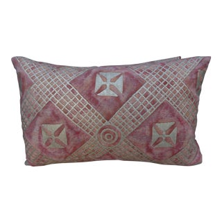 Pair of Blush Colored Fortuny Pillows