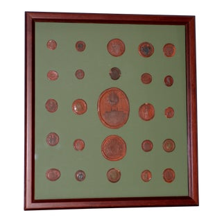 Fine Collection of 19th Century Wax Seals For Sale