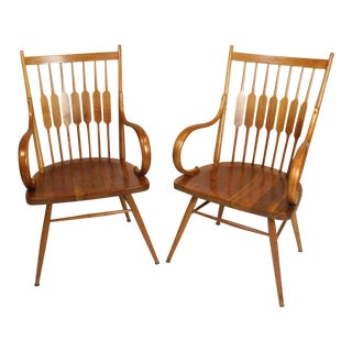 "Vintage Mid Century Kipp Stewart for Drexel ""Centennial"" Arm Chairs- A Pair For Sale"