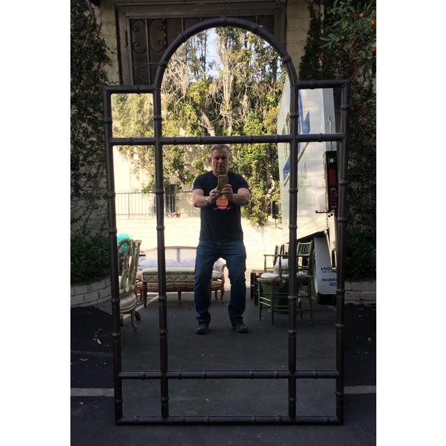 2010s Huge Paul Ferrante Black Iron Aviara Pier Mirror For Sale - Image 5 of 5