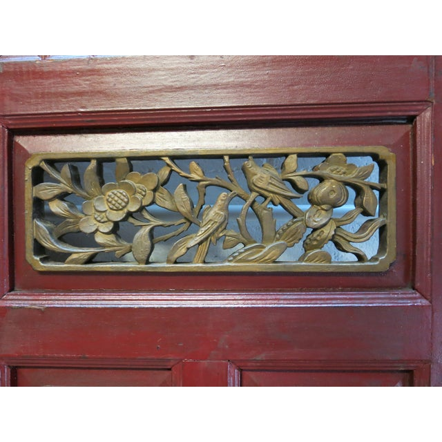 Antique Chinese Hand Carved Wooden Doors - a Pair - Image 10 of 11