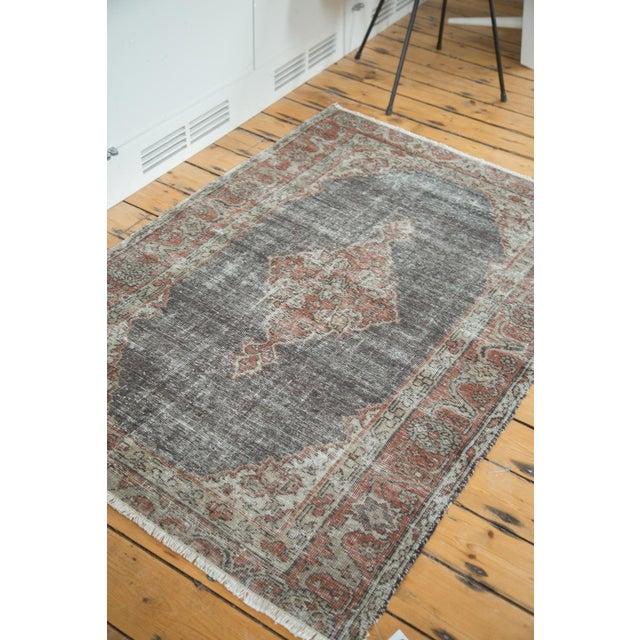 "Textile Vintage Oushak Distressed Rug - 3'8"" X 5'4"" For Sale - Image 7 of 7"