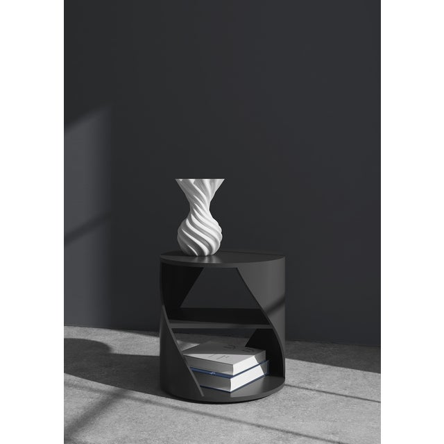 Mydna Zebrano Decorative Side Table by Joel Escalona For Sale - Image 4 of 8
