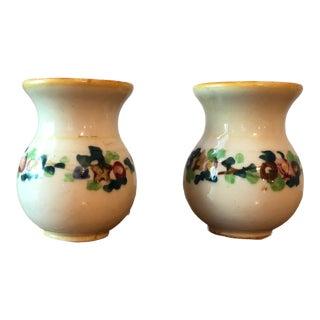 Vintage Japanese Floral Vases - a Pair For Sale