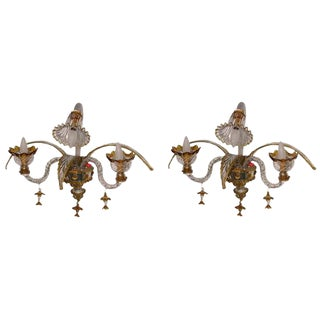 Venetian Wall Lights - A Pair For Sale