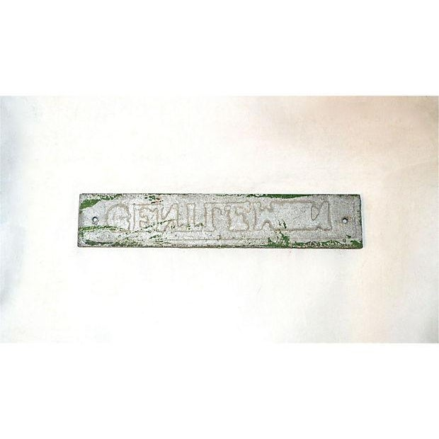 Vintage Green & Silver Men Door Plaque - Image 8 of 8