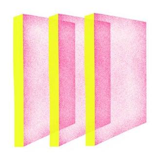 Jessica Poundstone Pink & Electric Yellow Three Planes Print