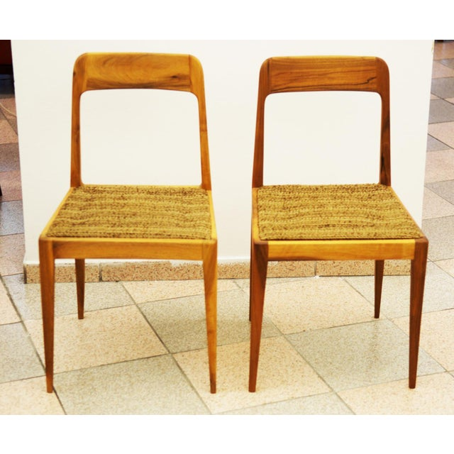 Cherry Wood Austrian A 7 chairs by Carl Auböck for Auböck - A Pair For Sale - Image 7 of 8