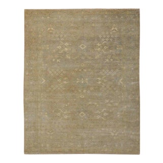 Modern Oushak Rug with Transitional Style