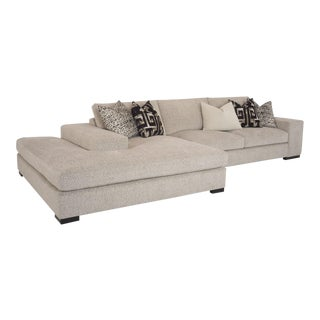 Rene Cazares Carbon 2pc Island Sectional For Sale