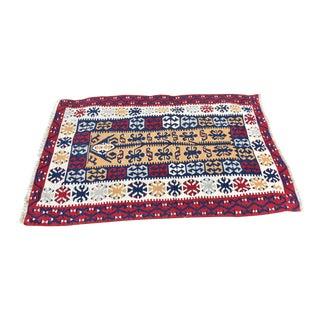 Vintage Turkish Handmade Kilim Rug - 3′6″ × 5′ For Sale