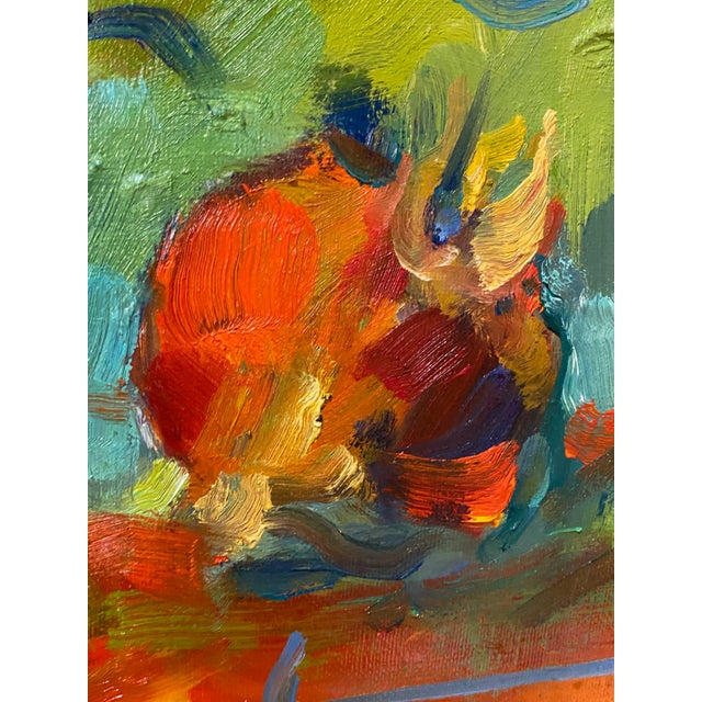 """Paint French Impressionist Painting by Adrien Moroni, """"Fruits de Grenade"""" For Sale - Image 7 of 9"""
