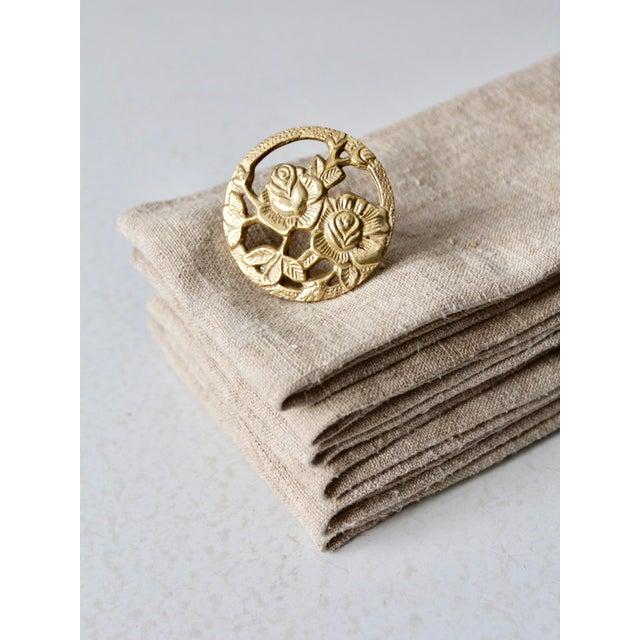 Vintage Brass Napkin Rings - Set of 8 For Sale - Image 6 of 10