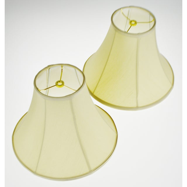 Traditional Vintage Bell Shape Fabric Lamp Shades - a Pair For Sale - Image 3 of 13