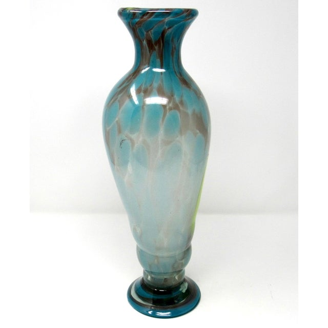 1970s Vintage Hand-Blown Studio Art Glass Vase For Sale - Image 5 of 9