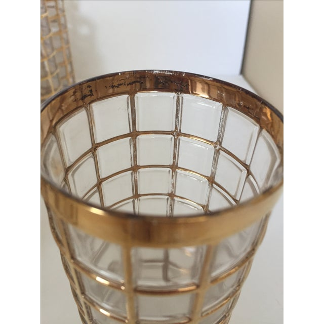 Imperial Glass Toril De Oro Gold 15 Highball Drinks Glasses For Sale - Image 10 of 11