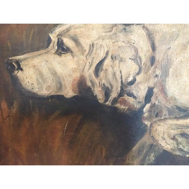 Mid-Century Hunting Dog Painting - Image 3 of 6