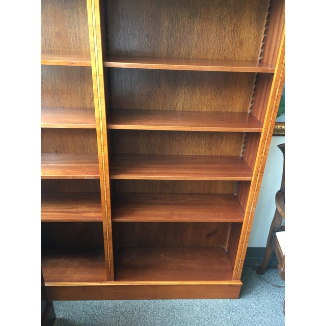 Brown English Yewood Double Bookcase For Sale - Image 8 of 9