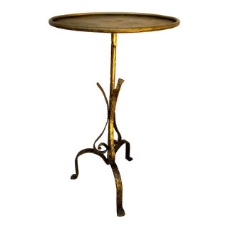 Vintage Italian Gilt Metal Martini Table For Sale