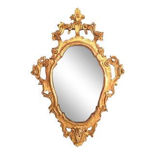 Italian Rococo Giltwood Mirror For Sale