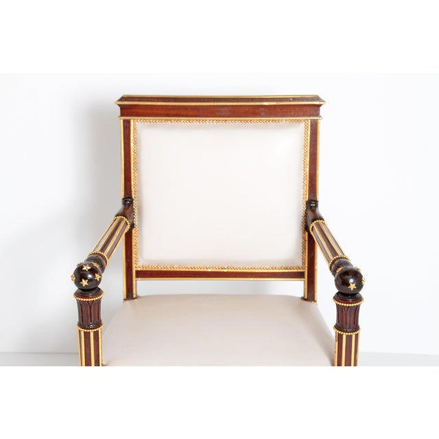 Early 19th Century French Empire Fauteuil by Ébéniste Jacob-Desmalter, Circa 1820 For Sale - Image 5 of 9