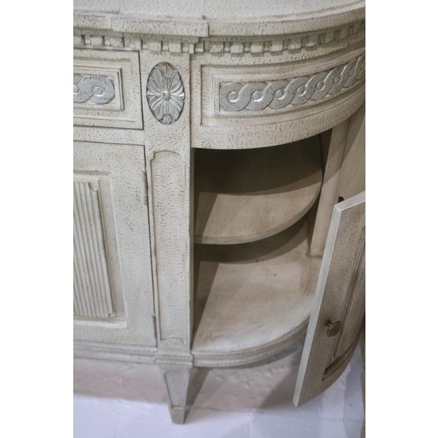 Swede Collection Swedish Gustavian Enfilade Buffet For Sale - Image 4 of 9